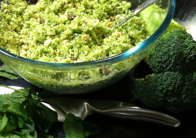 raw broccoli couscous