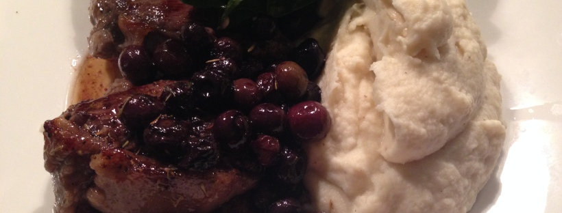 Venison steak with celeriac mash